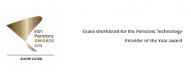 Exaxe shortlisted best pension technology provider of the year award